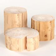 3 커피 테이블 그루터기 3d model