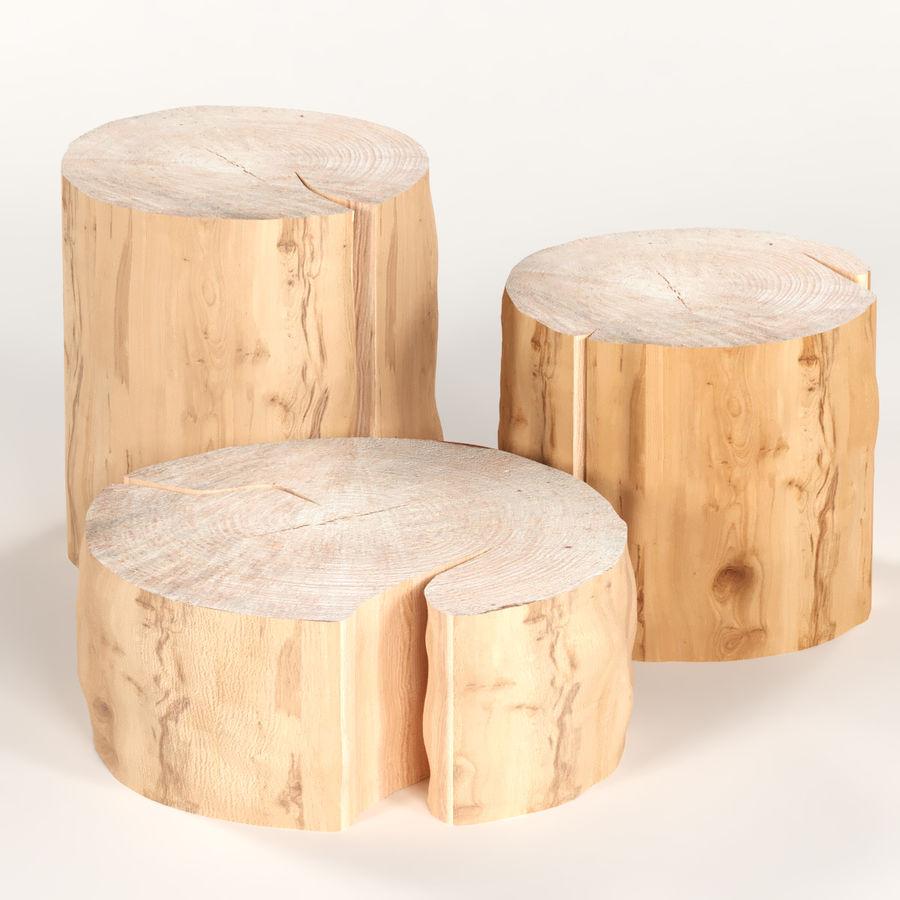 3 커피 테이블 그루터기 royalty-free 3d model - Preview no. 1