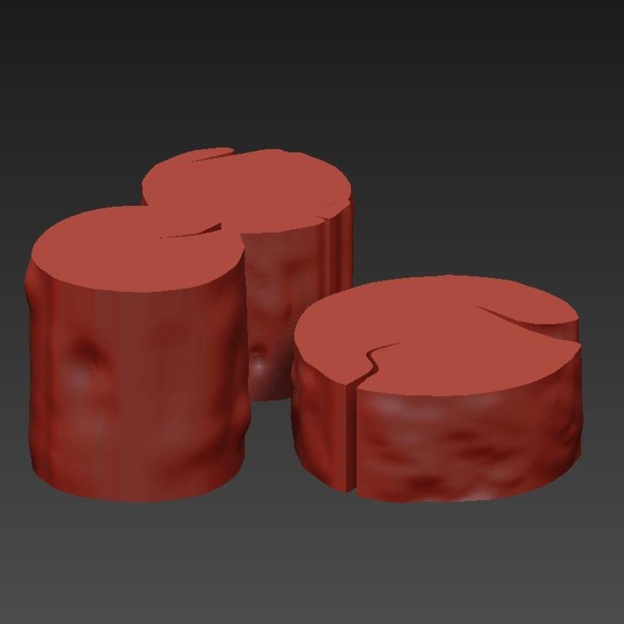 3 커피 테이블 그루터기 royalty-free 3d model - Preview no. 22