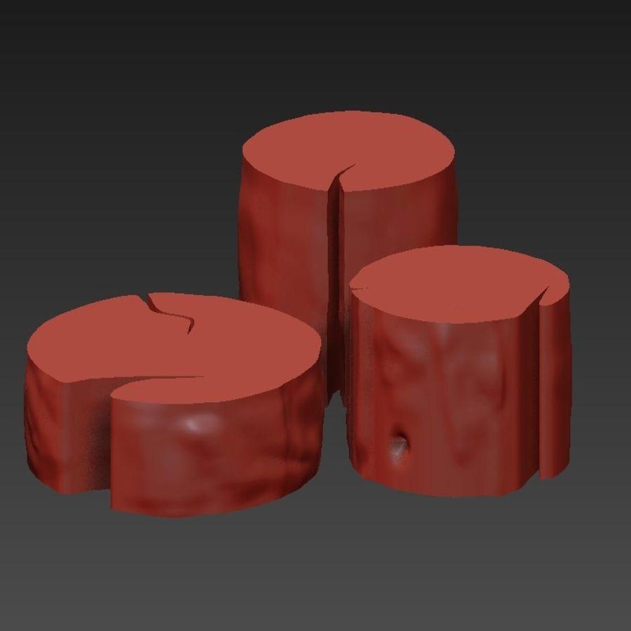 3 커피 테이블 그루터기 royalty-free 3d model - Preview no. 10