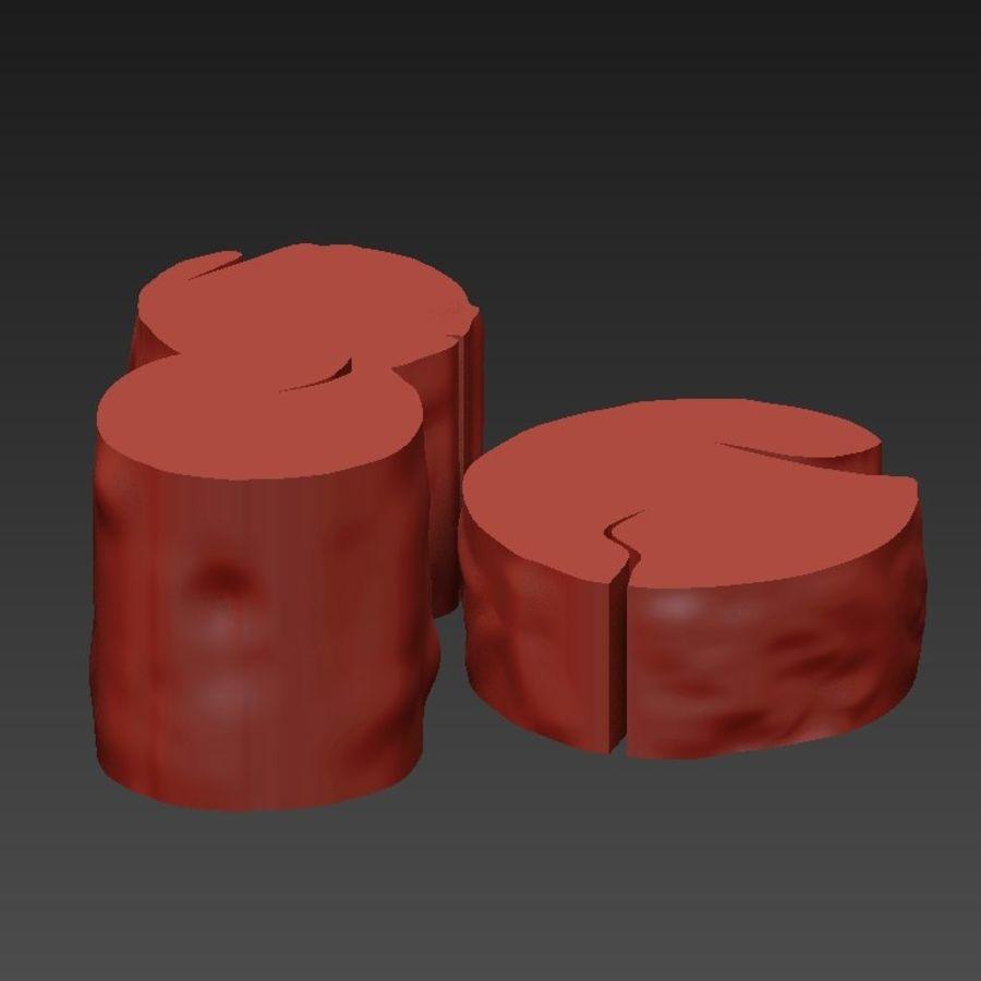 3 커피 테이블 그루터기 royalty-free 3d model - Preview no. 21