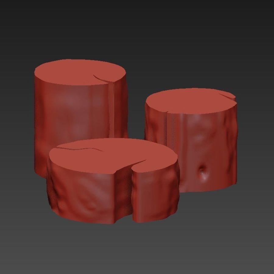 3 커피 테이블 그루터기 royalty-free 3d model - Preview no. 7