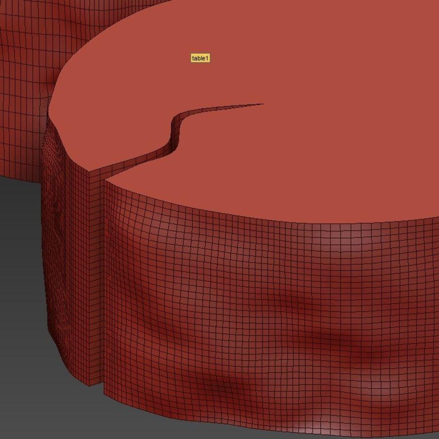 3 커피 테이블 그루터기 royalty-free 3d model - Preview no. 25