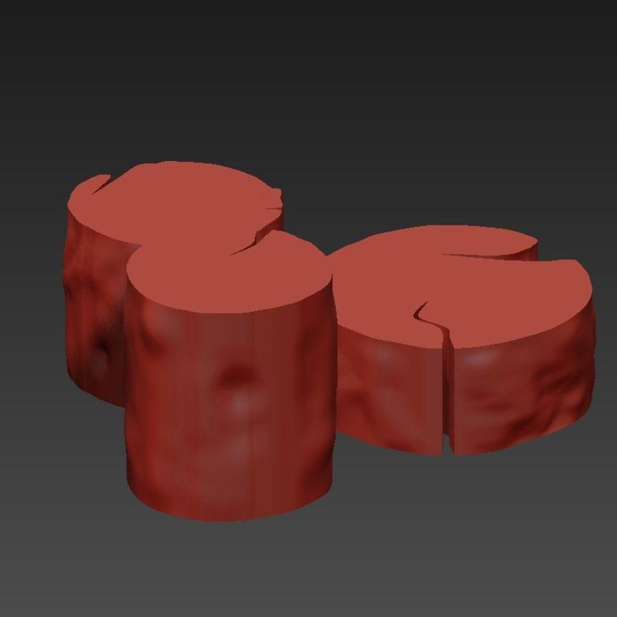 3 커피 테이블 그루터기 royalty-free 3d model - Preview no. 20