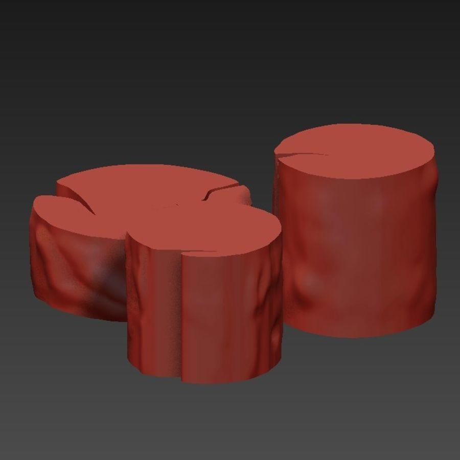 3 커피 테이블 그루터기 royalty-free 3d model - Preview no. 14
