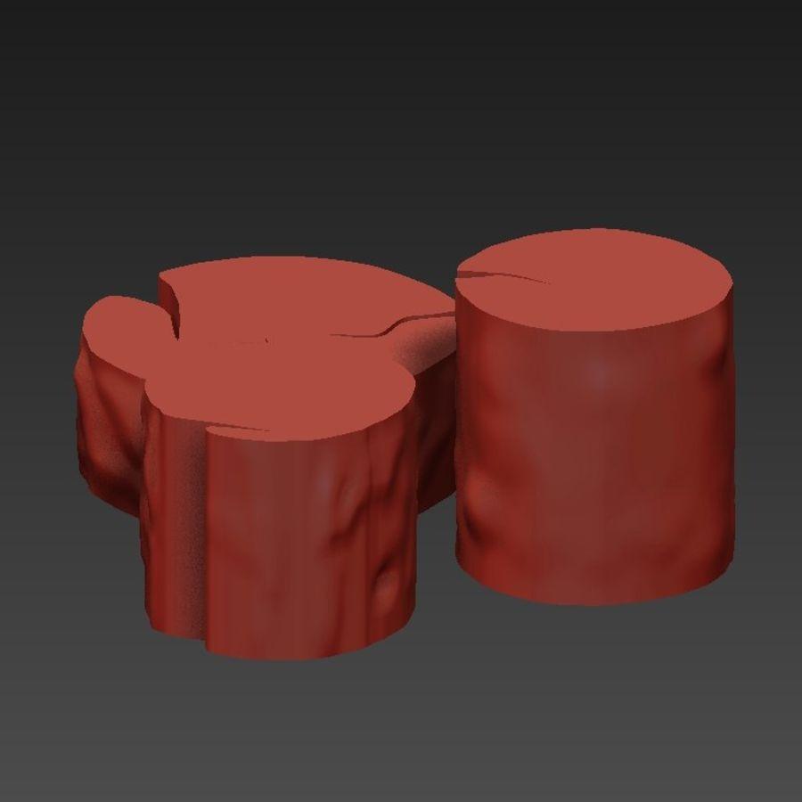 3 커피 테이블 그루터기 royalty-free 3d model - Preview no. 15