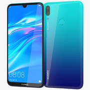 Huawei Y7 2019 Aurora Azul 3d model