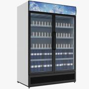 Fylld kylskåp med dubbeldörr 3d model
