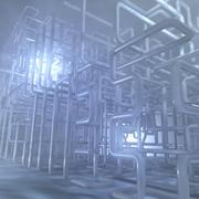 Ambiente della struttura del tubo 3d model