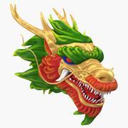 Chińska głowa smoka 2 3d model