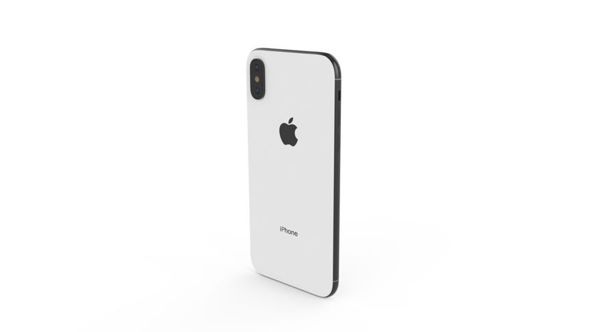 iPhone X royalty-free 3d model - Preview no. 7