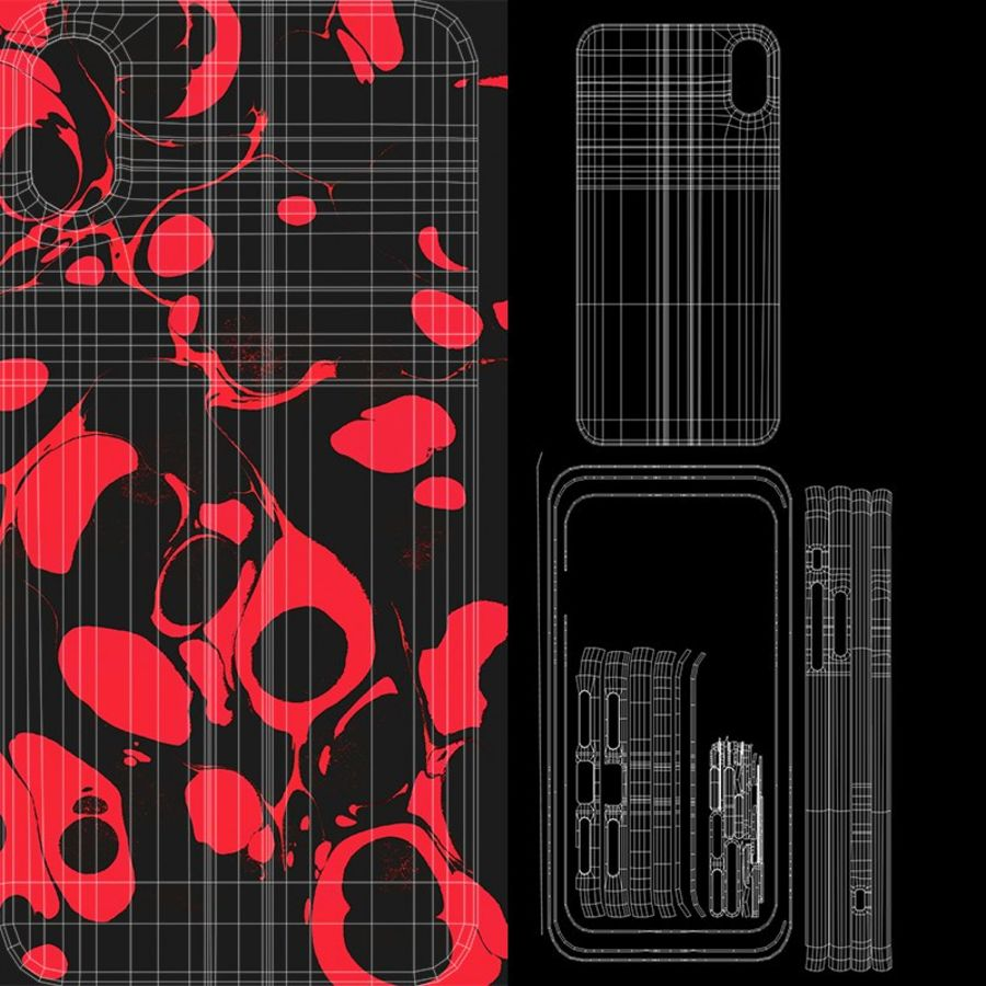 Custodia per iPhone XR royalty-free 3d model - Preview no. 12
