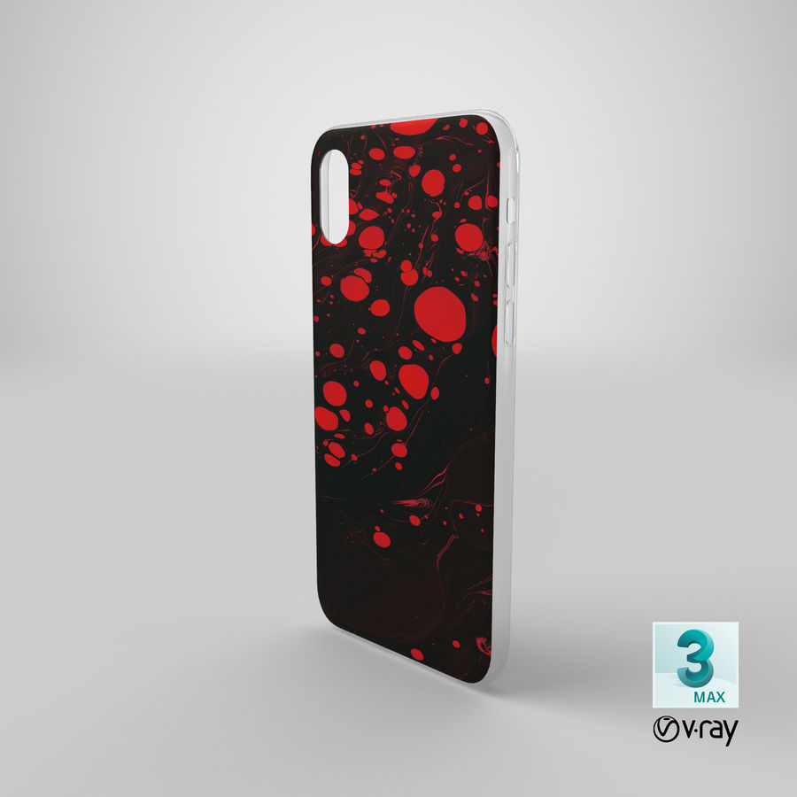 iPhone XS Kılıfı royalty-free 3d model - Preview no. 19