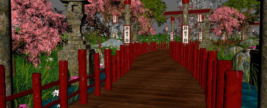 Japanese Garden Environment royalty-free 3d model - Preview no. 12