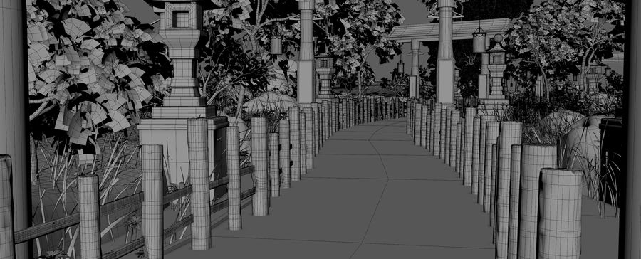 Japanese Garden Environment royalty-free 3d model - Preview no. 13