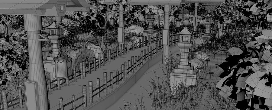 Japanese Garden Environment royalty-free 3d model - Preview no. 15