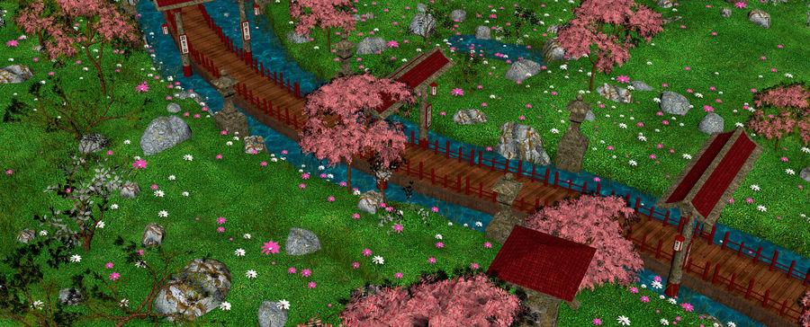 Japanese Garden Environment royalty-free 3d model - Preview no. 18