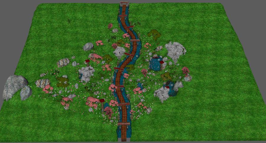 Japanese Garden Environment royalty-free 3d model - Preview no. 20