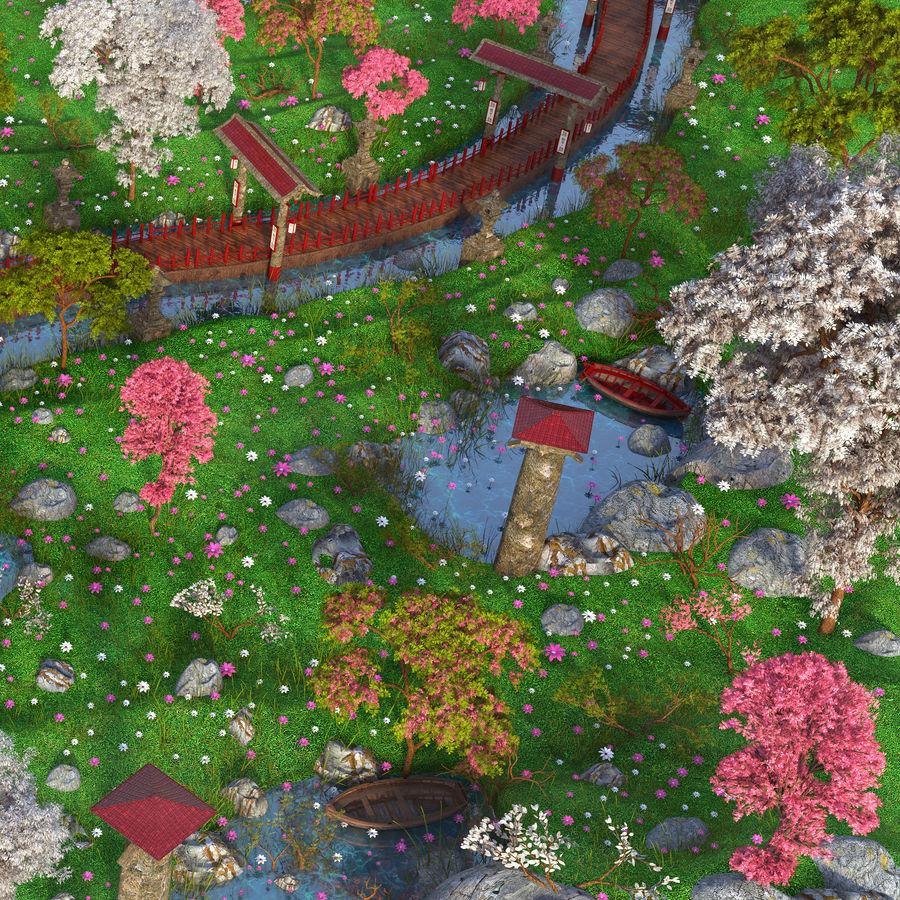 Japanese Garden Environment royalty-free 3d model - Preview no. 7