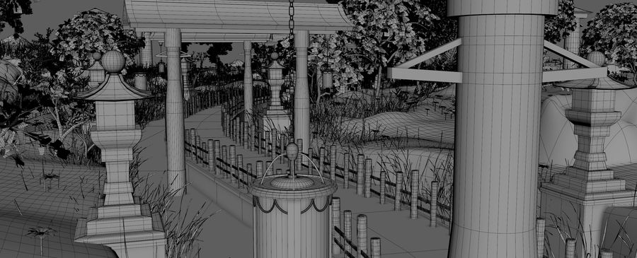 Japanese Garden Environment royalty-free 3d model - Preview no. 22