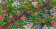 Japanische Gartenumgebung 3d model