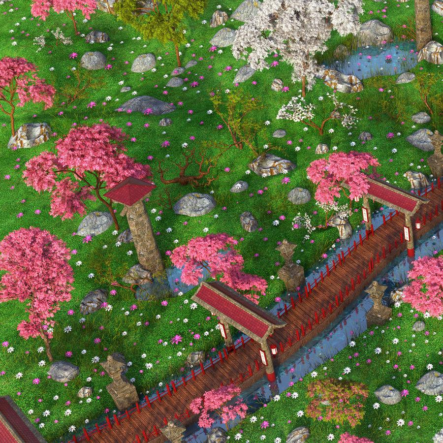Japanese Garden Environment royalty-free 3d model - Preview no. 8