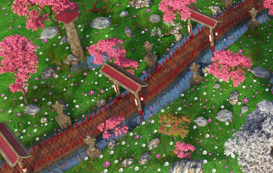 Japanese Garden Environment royalty-free 3d model - Preview no. 5