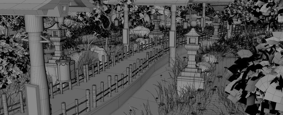 Japanese Garden Environment royalty-free 3d model - Preview no. 15