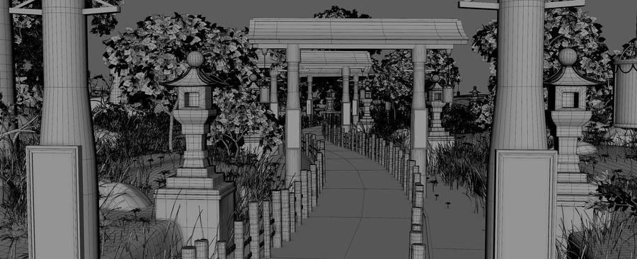 Japanese Garden Environment royalty-free 3d model - Preview no. 10