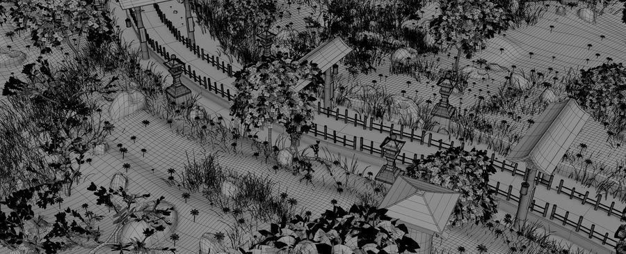 Japanese Garden Environment royalty-free 3d model - Preview no. 19
