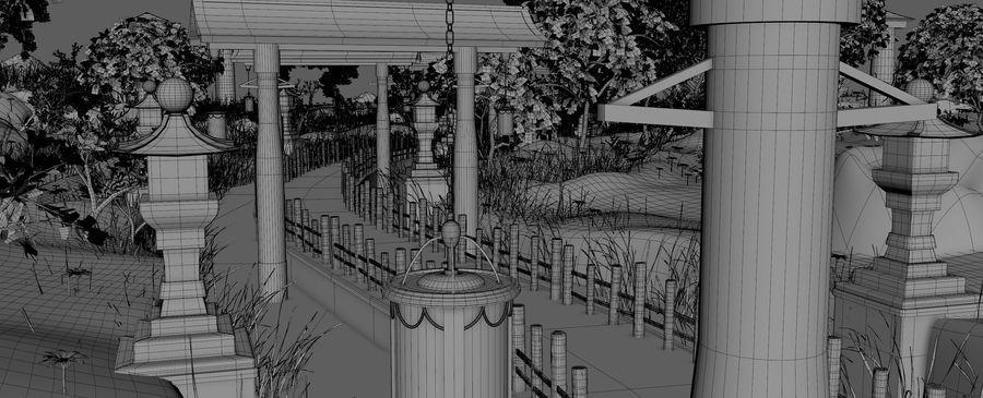 Japanese Garden Environment royalty-free 3d model - Preview no. 22