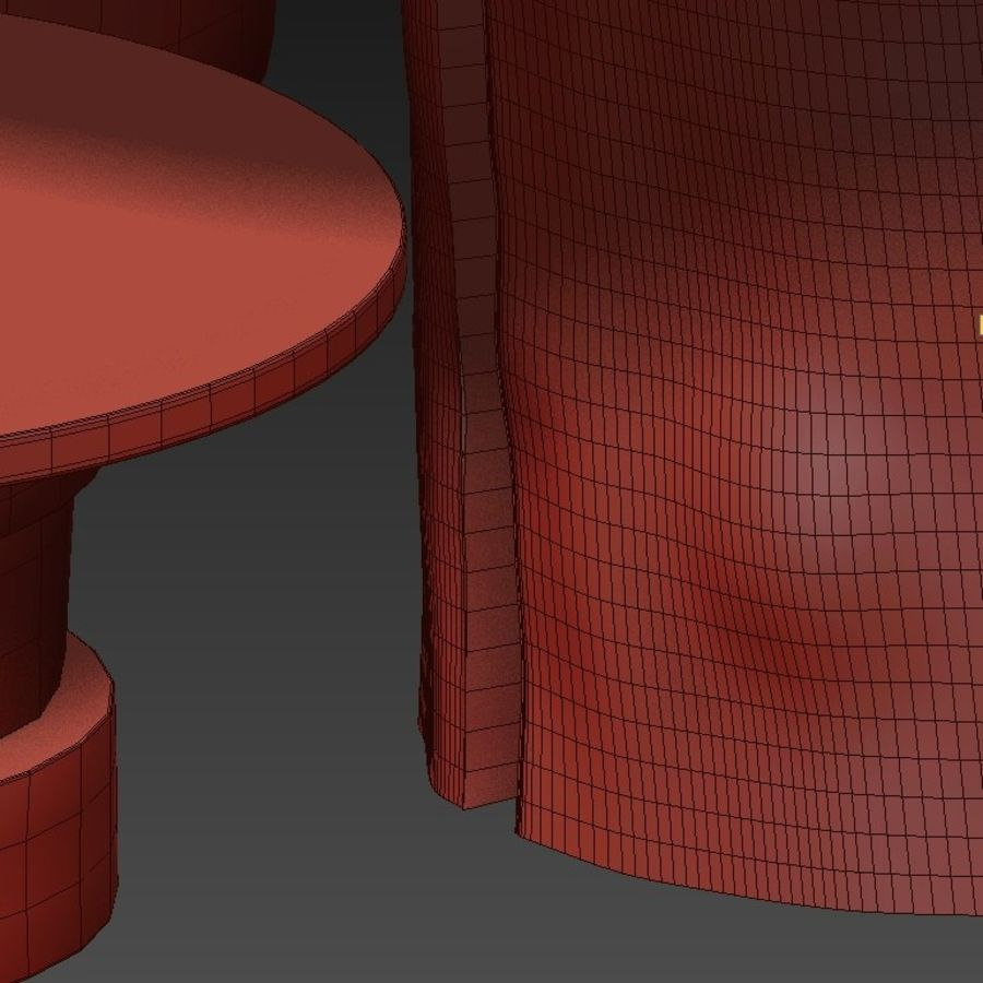A set of light tables from stumps and slabs with glass tops royalty-free 3d model - Preview no. 31