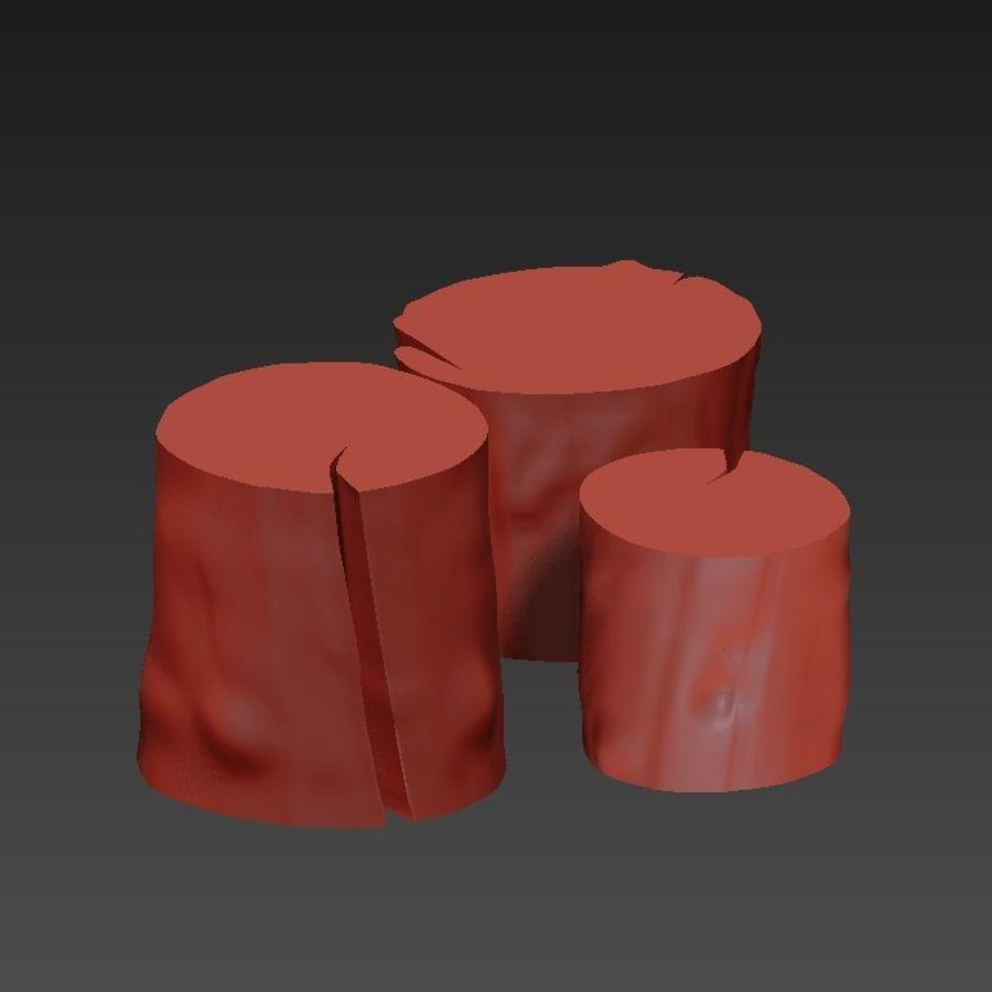 3つの暗いコーヒーテーブルの切り株 royalty-free 3d model - Preview no. 11