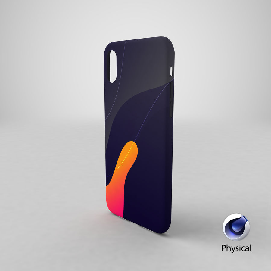 Custodia per iPhone XS royalty-free 3d model - Preview no. 13