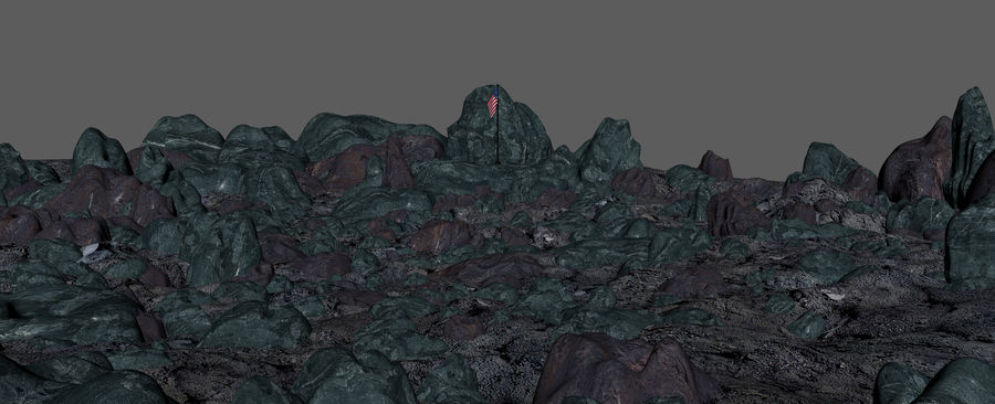 Moon Environment royalty-free 3d model - Preview no. 15