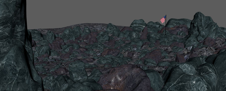 Moon Environment royalty-free 3d model - Preview no. 13