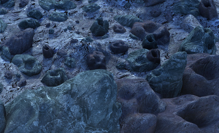 Moon Environment royalty-free 3d model - Preview no. 7
