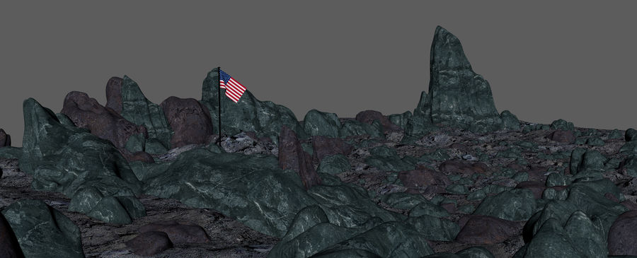 Moon Environment royalty-free 3d model - Preview no. 20