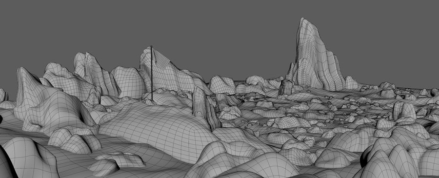 Moon Environment royalty-free 3d model - Preview no. 21