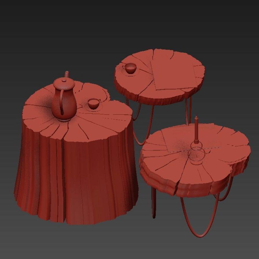 석판과 그루터기 커피 테이블 royalty-free 3d model - Preview no. 18