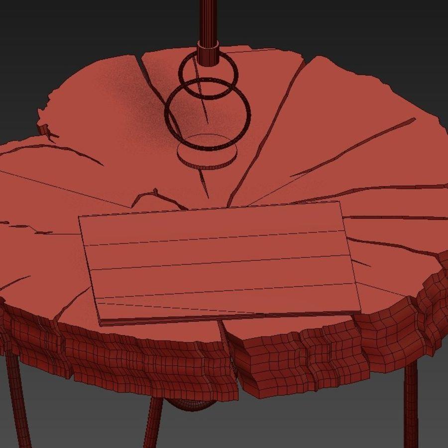 석판과 그루터기 커피 테이블 royalty-free 3d model - Preview no. 38