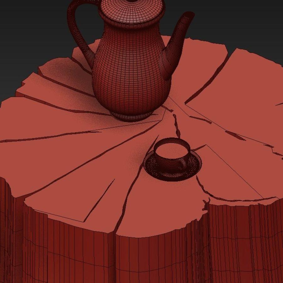 석판과 그루터기 커피 테이블 royalty-free 3d model - Preview no. 39