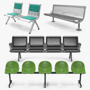 Waiting Chairs 3D Models Collection 3d model