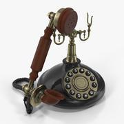 Antique 1920s Telephone 3D Model 3d model