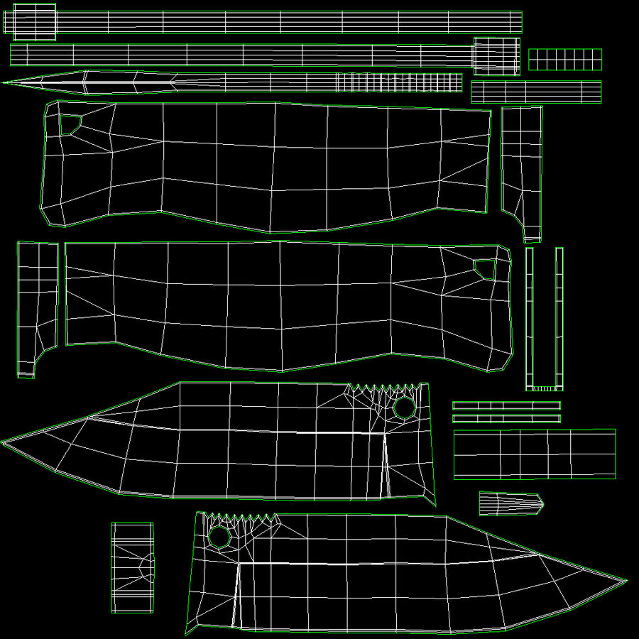 Cudeman Knife & Case royalty-free 3d model - Preview no. 10