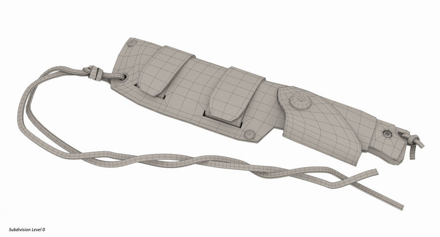 Cudeman Knife & Case royalty-free 3d model - Preview no. 12