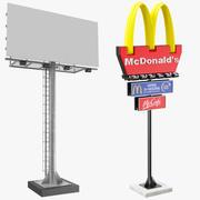 Dwa znaki billboardowe 3d model