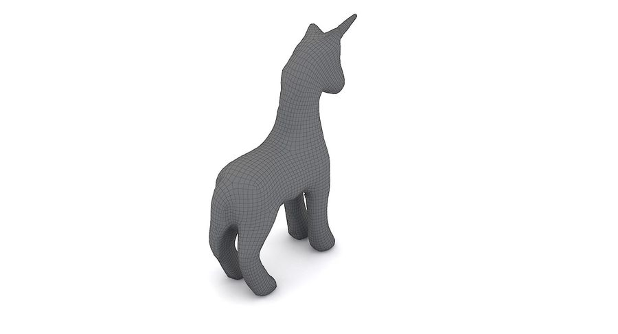 Figurine Horse Carton royalty-free 3d model - Preview no. 7