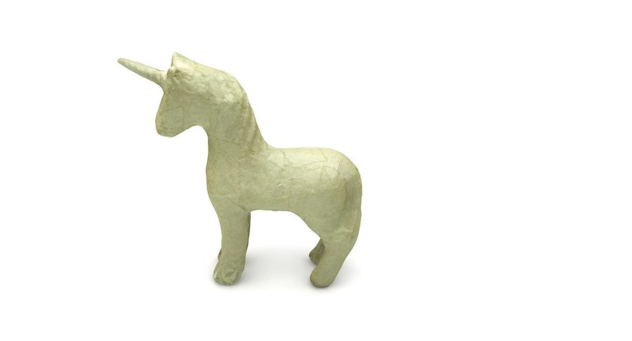 Figurine Horse Carton royalty-free 3d model - Preview no. 9