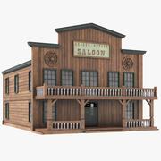 Saloon Wild West Western House 3d model